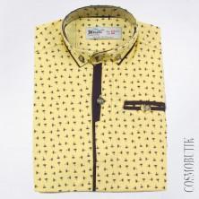 Рубашка желтая с орнаментом