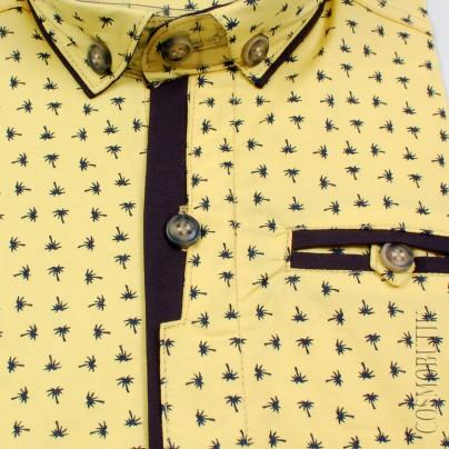 Рубашка для мальчика желтого цвета