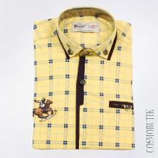Желтая рубашка с рисунком