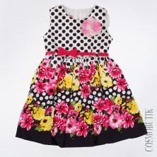 Платье летнее с цветами и в горох