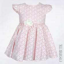Розовое коктейльное платье Mona Rossa 15240