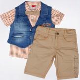 Разноцветный модный костюм для мальчика от компании Bebus