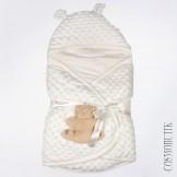 Велюровый конверт для новорожденного