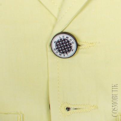 Костюм для мальчика с желтым пиджаком