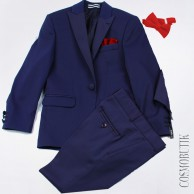 Костюм синий с красным Baboony-5082