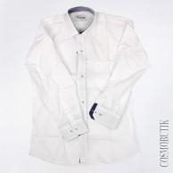 Рубашка для мальчика на выпускной белого цвета