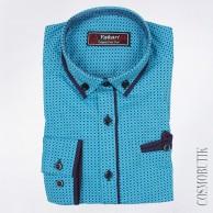 Голубая рубашка для мальчика с длинным рукавом от компании Viktor