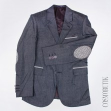 Пиджак для мальчика классического кроя серый