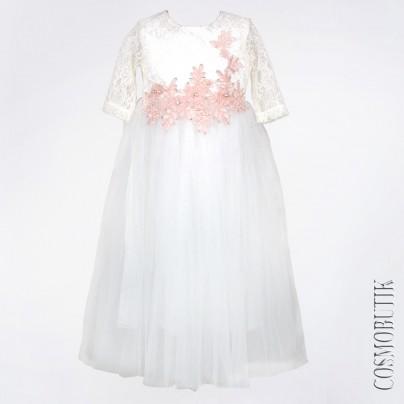 Нарядное платье для девочки с аппликацией