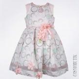 Детское нарядное платье с цветами и жемчугом Lome