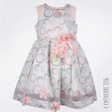 Детское платье с цветами и жемчугом Lome