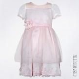 Платье розовое нежное с коротким рукавом