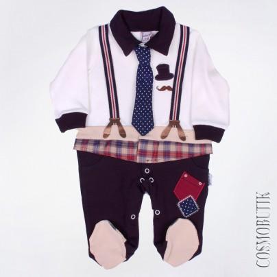 Оригинальный костюм-боди для новорожденного в виде костюмчика