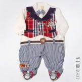 Велюровый костюм-боди для новорожденного