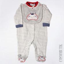 Хлопковый боди для новорожденного на клепках