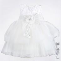 Платье белое пышное с ободком