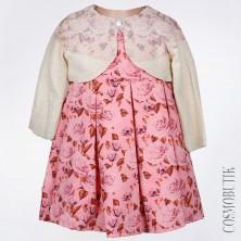 Платье для новорожденной с болеро