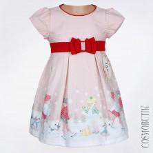 Хлопковое платье розового цвета