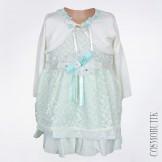Мятное платье для девочки с болеро