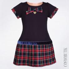 Стильное синее платье Lilax 3664