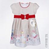 Хлопковое платье кофейного цвета
