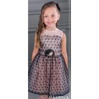 Элегантное платье с жемчугом