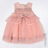 Платье персиковое с ободком