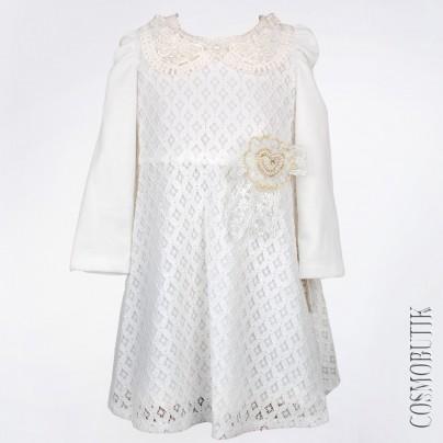 Нарядное ажурное платье