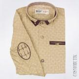 Рубашка с длинным рукавом оливкового цвета