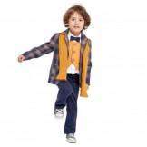 Костюм для мальчика с горчичным шарфом