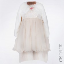 Нарядное платье со шлейфом и болеро