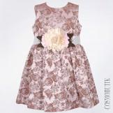 Нарядное платье с пионом на поясе