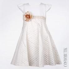 Платье с коротким рукавом и высокой талией