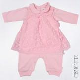 Трикотажный костюм для новорожденной девочки