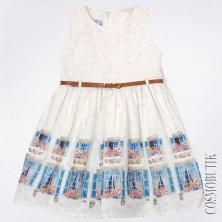 Хлопковое платье на лето с поясом
