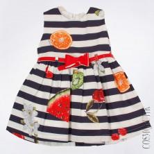 Платье повседневное с фруктовым рисунком