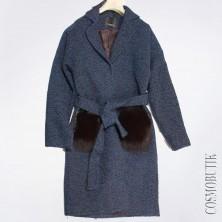 Пальто с мехом от компании Club Donna