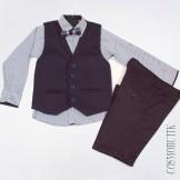 Модный костюм для мальчика с жилетом и бабочкой