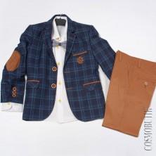 Костюм на выпускной. Пиджак и рубашка приталенного кроя
