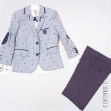 Костюм на выпускной с голубым пиджаком
