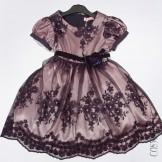 Оригинальное платье с верхом из кружева