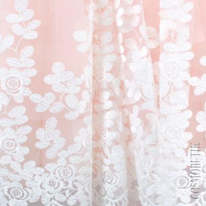 Нарядное платье для девочки с перчатками