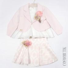 Розовый костюм с пиджаком