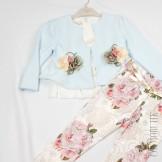 Комплект из блузы майки брюк и пиджака
