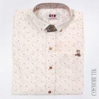 Белая модная рубашка для мальчика с длинным рукавом