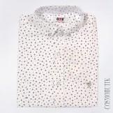 Белая хлопковая рубашка для мальчика в школу
