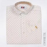 Рубашка для мальчика от компании Musti хлопковая белая