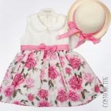 Летнее платье с соломенной шляпкой
