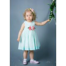 Платье для девочки зеленое