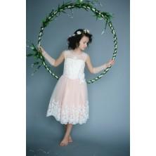 Платье для девочки с перчатками